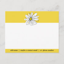 Yellow and White Whimsical Daisy Social Thank you