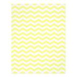 Yellow And White Zigzag Chevron Pattern Customized Letterhead