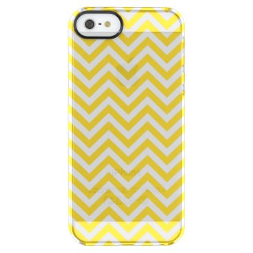 Beach Themed Yellow and White Zigzag Stripes Chevron Pattern Clear iPhone SE/5/5s Case