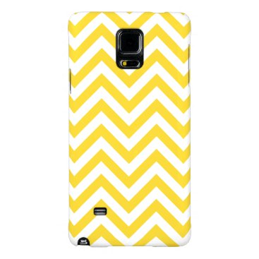 Beach Themed Yellow and White Zigzag Stripes Chevron Pattern Galaxy Note 4 Case