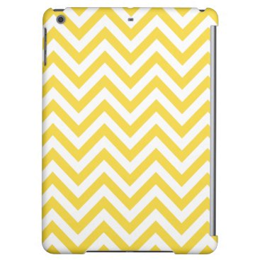 Beach Themed Yellow and White Zigzag Stripes Chevron Pattern iPad Air Covers