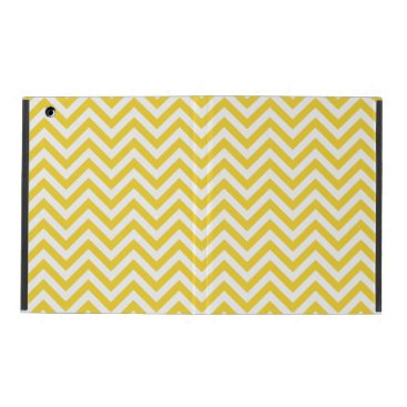 Beach Themed Yellow and White Zigzag Stripes Chevron Pattern iPad Cover