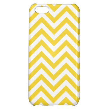 Beach Themed Yellow and White Zigzag Stripes Chevron Pattern iPhone 5C Cases