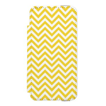 Beach Themed Yellow and White Zigzag Stripes Chevron Pattern iPhone SE/5/5s Wallet Case