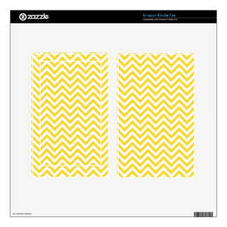 Yellow and White Zigzag Stripes Chevron Pattern Kindle Fire Skins