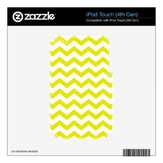 Yellow and White Zigzags Decal For iPod Touch 4G