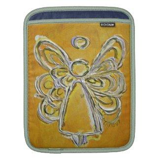 Yellow Angel Art Painting iPad Computer Sleeves