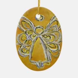 Yellow Angel Art Painting Ornament