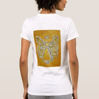 Yellow Angel Art Painting Shirt (Image on Back)