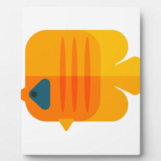 Yellow Angel Fish Primitive Style Plaque