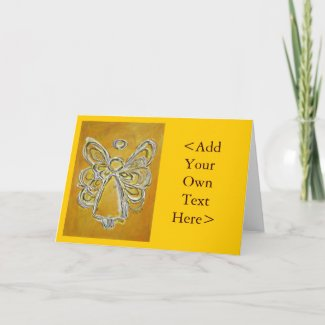Yellow Angel Greeting Card or Note Cards