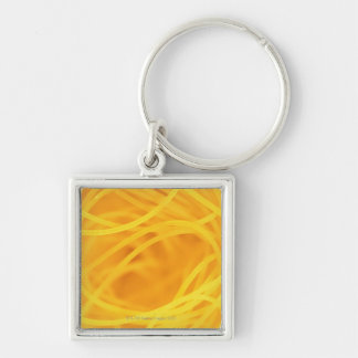 Yellow angel hair pasta keychain