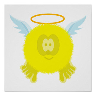 Yellow Angel Pom Pom Pal Poster Print