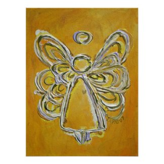 Yellow Angel Poster Art Print