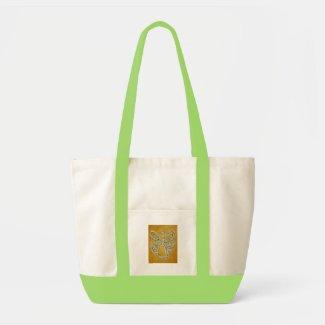 Yellow Angel Tote Bag