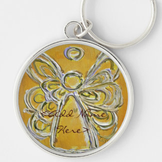 Yellow Angel Wings Keychain