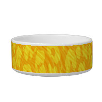 Yellow animal print texture of leopard bowl