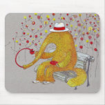 yellow anteater mouse pad