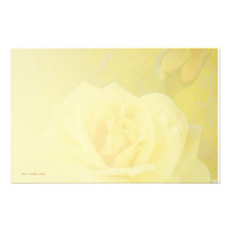 Yellow Antique Rose Light Blend Stationery