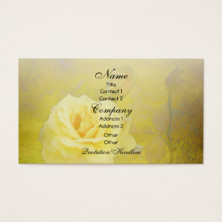 Yellow Antique Roses Business Card