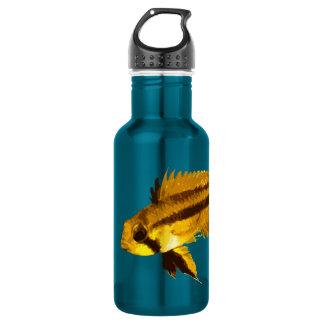 Yellow Apistogramma Fish Fan 18oz Water Bottle