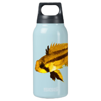 Yellow Apistogramma Fish Fan 10 Oz Insulated SIGG Thermos Water Bottle