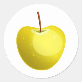 Yellow Apple Classic Round Sticker