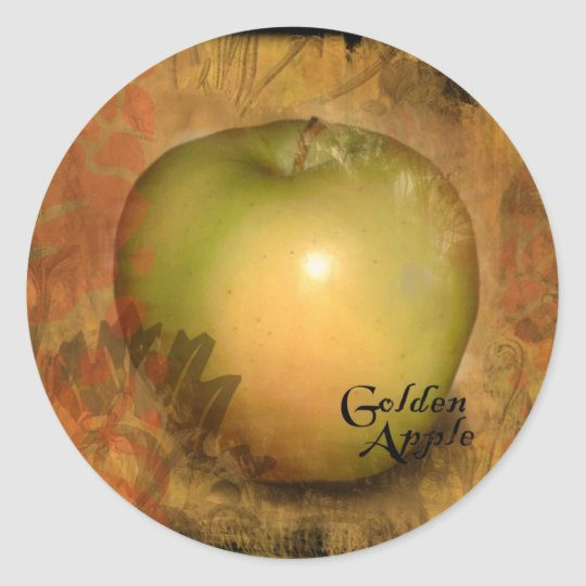 Yellow Apple Classic Round Sticker