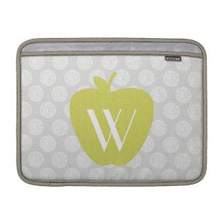 Yellow Apple & Dots Teacher Macbook Air Sleeve