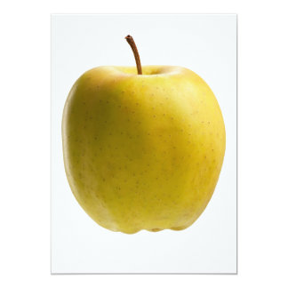 Yellow apple personalized invitation