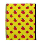 Yellow apple pattern iPad case