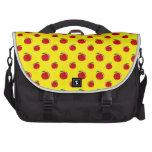 Yellow apple pattern laptop messenger bag