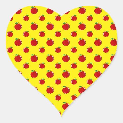 Yellow apple pattern stickers