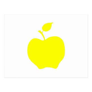 Yellow Apple Shape Post Cards