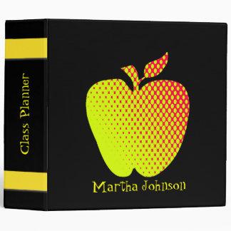 Yellow Apple Teacher's Class Planner 3 Ring Binder