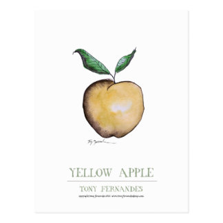 yellow apple, tony fernandes postcard