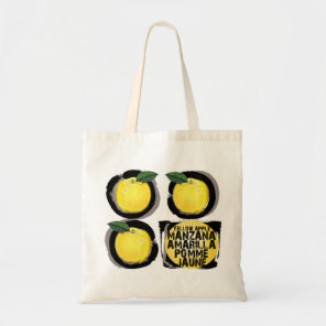 Yellow Apples Manzana Amarilla Pomme Jaune Tote Bag
