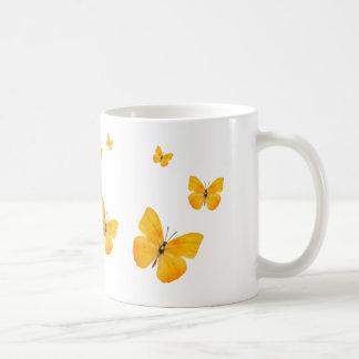 Yellow Apricot Sulphur Butterflies Coffee Mug