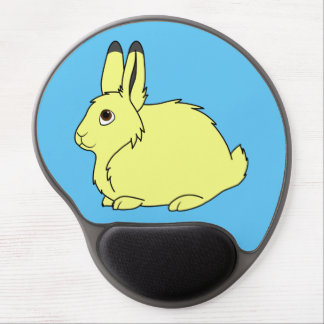 Yellow Arctic Hare Gel Mouse Pad