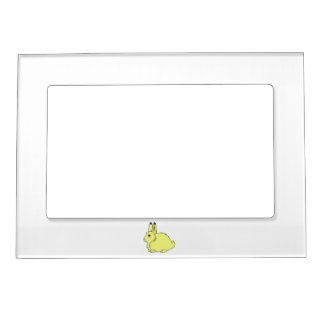 Yellow Arctic Hare Magnetic Picture Frame
