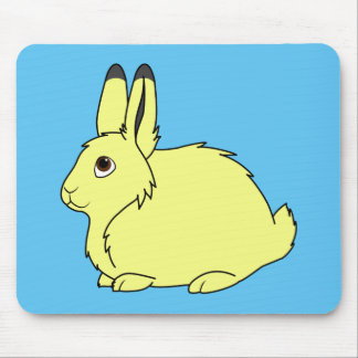 Yellow Arctic Hare Mouse Pad