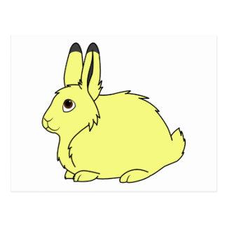 Yellow Arctic Hare Postcard