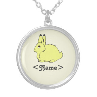Yellow Arctic Hare Silver Plated Necklace