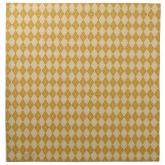 Yellow Argyle American MoJo Napkin