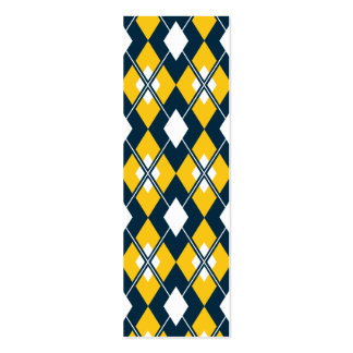 Yellow Argyle Bookmark Pack Of Skinny Business Cards