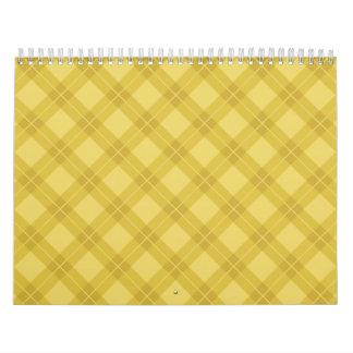 Yellow Argyle Wall Calendars