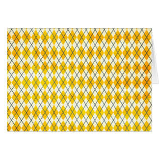Yellow Argyle Card