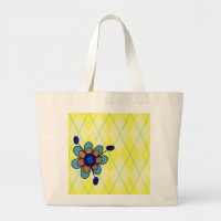 Yellow Argyle Jumbo Tote bag