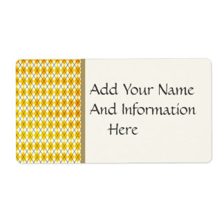 Yellow Argyle Label