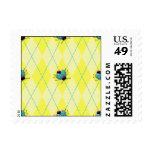 Yellow Argyle Ladybug Postage Stamps